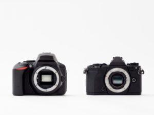 一眼レフカメラとミラーレスカメラの違い